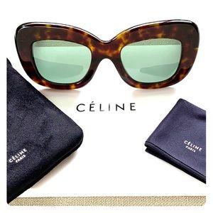 NWT CELINE 41423/S Diane Tortoise Sunglasses